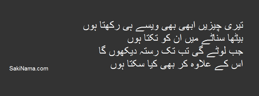 q teri cheezian urdu poetry